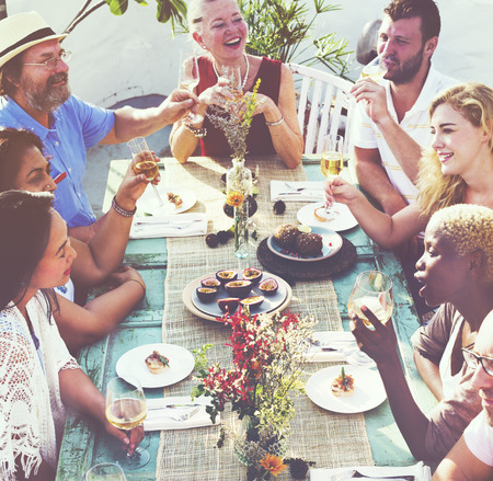 outdoor dining: Friends Friendship Outdoor Dining Hanging out Concept