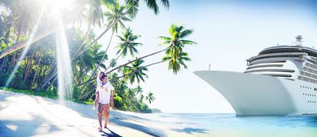 romance: Pareja Concepto Romance Beach Island Amor