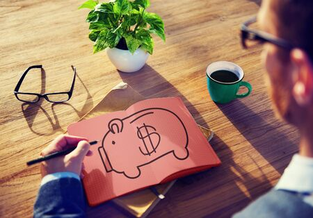 Piggy Bank Saving Money Economize Profit Concept Stock Photo