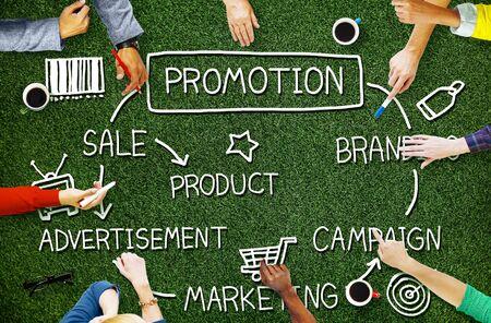 advertisement: Promotion Advertisement Sale Branding Marketing Concept Stock Photo