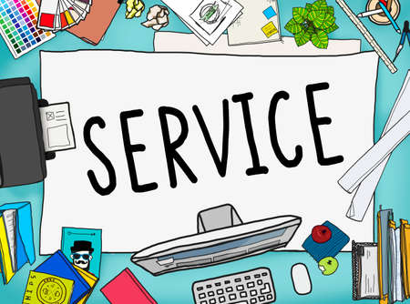 office stuff: Service Support Satisfaction Consumerism Concept