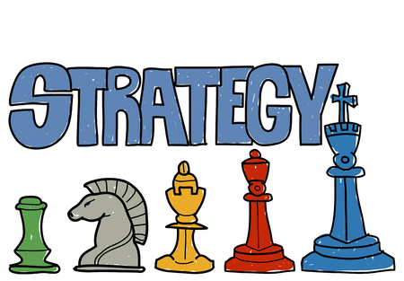 Strategy concept Imagens