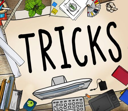 office stuff: Trick Treat Risk Hide Player Magic Halloween Concept