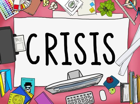 banking crisis: Crisis Accounting Banking Failure Financial Concept Stock Photo