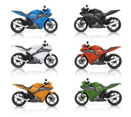 Motorbike Motorcycle Bike Roadster Transportation Concept Stock Photo