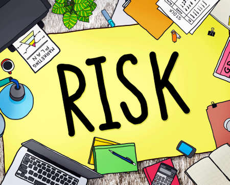 investment security: Risk Management Investment Finance Security Concept Stock Photo