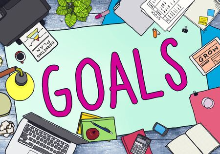 messy office: Goals Aim Aspiration Anticipation Target Concept