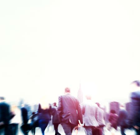 financial district: Business People Financial District Commuters Concept