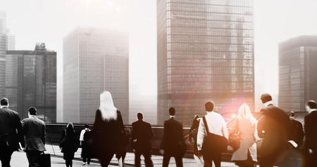 business people: Commuter Business People Cityscape Corporate Travel Concept
