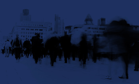hustle: Business People Commuter Cityscape Rush Hour Concept