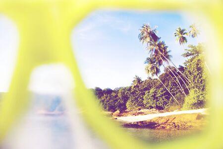 exoticism: Summer Beach Paradise Landscape Exoticism Concept Stock Photo