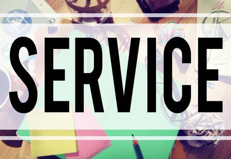 communicative: Service Loyalty Strategy Customer Help Concept
