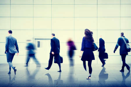 hustle: Business People City Life Hustle Hurry Occupation Concept