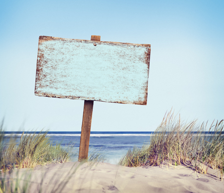 beaches: Wooden Sign Directional Guidepost Information Concept