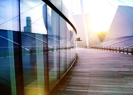 現代建築外観の超高層ビル デザイン コンセプト 写真素材