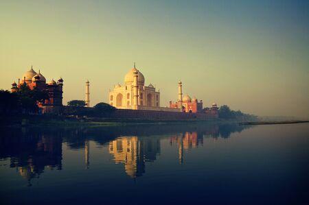 the memorial: Taj Mahal Memorial Travel Destination 7 Wonders Concept