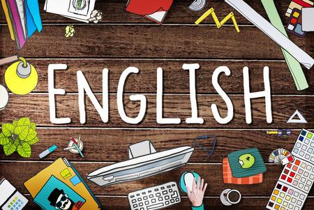 pronunciation: English British England Language Education Concept