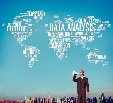 information analysis: Data Analysis Analytics Comparison Information Networking Concept Stock Photo