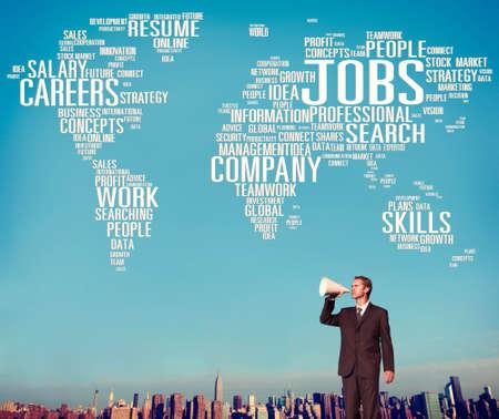 career development: Jobs Occupation Careers Recruitment Employment Concept