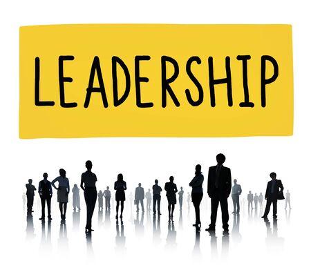 lider: Concepto Líder Liderazgo Coaching Gerencial Foto de archivo