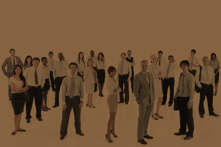 organised group: Large Group Business People Teamwork Collaboration Concept