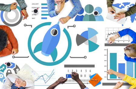 Nuevo Plan de Innovación Empresarial El trabajo en equipo concepto del asunto global