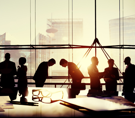 japanese culture: Business People Japanese Culture Bowing Respect Greeting Concept