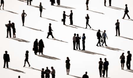 personas saludandose: Business People Walking Commuter Rush Hour Concept Foto de archivo