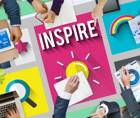 inspire: Inspire Inspiration Creative Vision Hopeful Concept Stock Photo