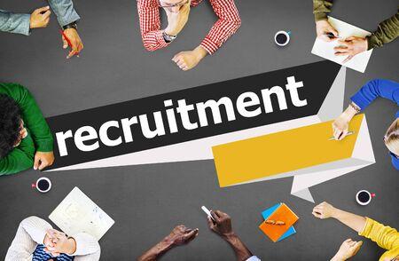 recruitment: Recruitment Hiring Career Human Resources Concept