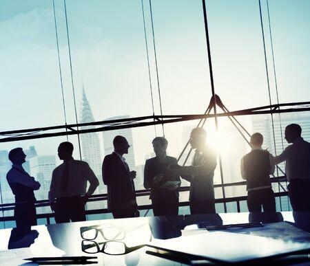 reunion de trabajo: Gente de negocios Reunión de Discusión Comunicación Concepto