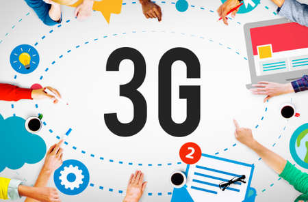 3g: 3G Connection Wireless Telecommunications Mobility Concept