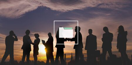 office icon: Folder Storage Files Organization Document Data Concept Stock Photo