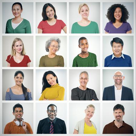Les gens la diversité des visages humains Portrait Face Communauté Concept Banque d'images