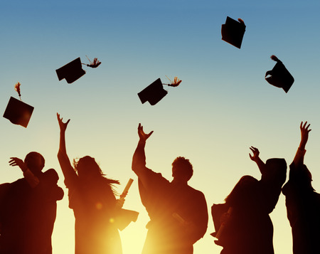 exito: Celebraci�n Educaci�n Graduaci�n �xito Estudiantil Aprendizaje Concepto Foto de archivo