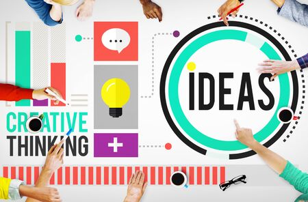 goals: Ideas Creative Thinking Aspirations Mission Concept