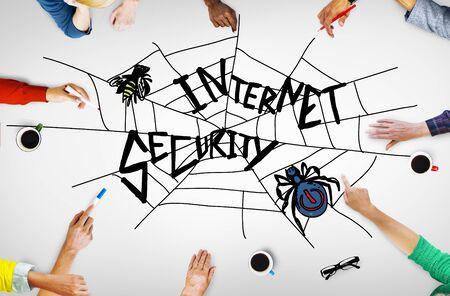 aprendizaje: Internet Security Web Concepto Protección Seguridad
