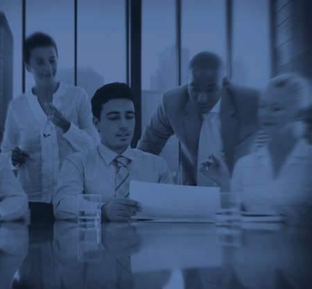 business administration: Business People Meeting Discussion Communication Concept Foto de archivo