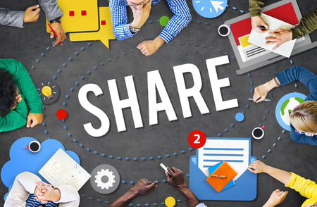 social networking: Share Sharing Connection Social Networking Concept