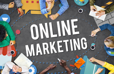 marketing online: Online Marketing Promotion Campaign Technology Concept