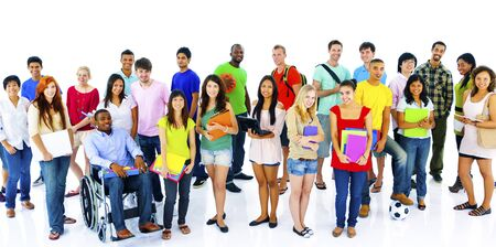 adult students: Diversity People Crowd Friends Communication Concept Stock Photo