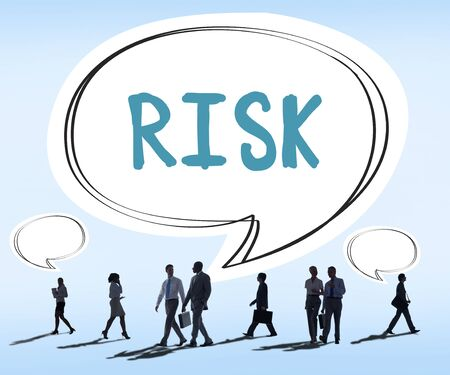 unsure: Risk Chance Safety Security Unsure Weakness Concept
