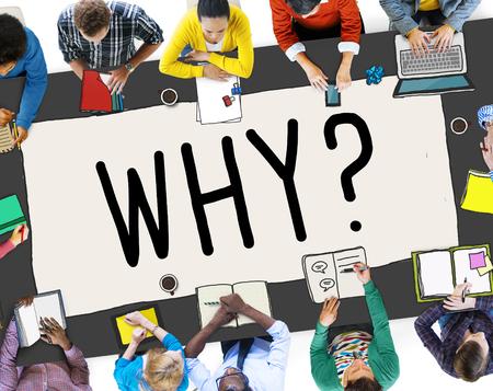 confundido: ¿Por qué pregunta curiosa razón Confundir Concepto Foto de archivo