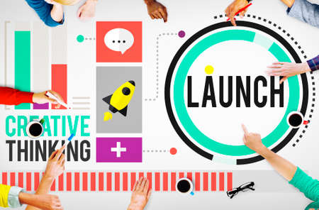 successful campaign: Launch New Business Inauguration Begin Start Concept