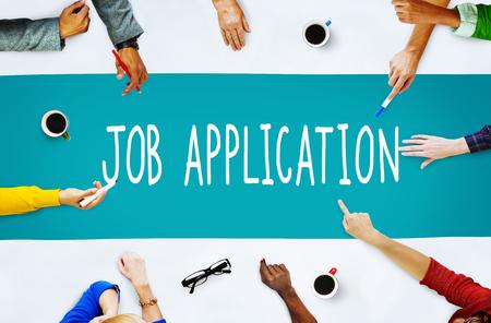ジョブ アプリケーション キャリア雇用概念