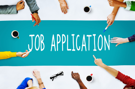 employment: Job Application Career Employment Concept Stock Photo