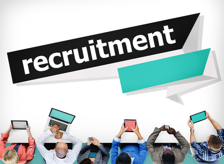 place of employment: Recruitment Hiring Career Human Resources Concept