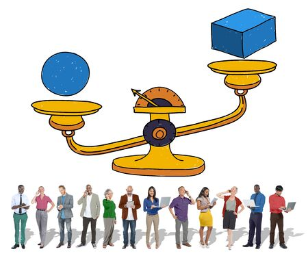 plausible: Possibility Balance Scales Circumstance Occasion Concept Stock Photo