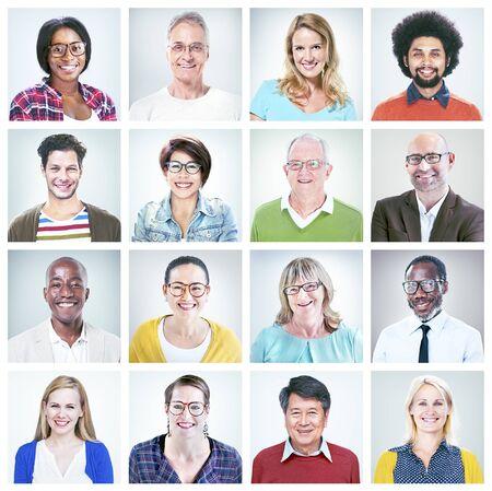 diversidad: Diversos Felicidad Concepto de la amistad Retrato