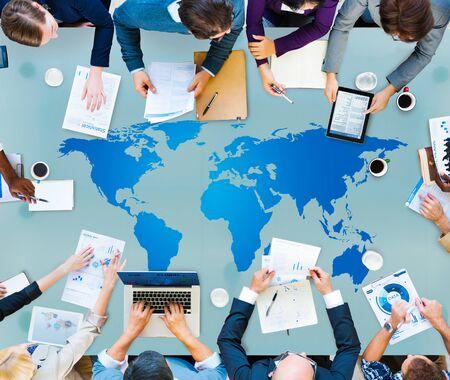 globalization: World Global Cartography Globalization Earth International Concept